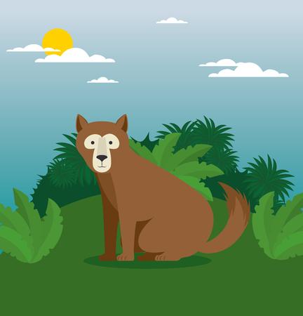 Wild dierlijk beeldverhaal vectorillustratie grafisch ontwerp Stockfoto - 90229319