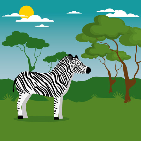 Wild animal cartoon illustration. Çizim