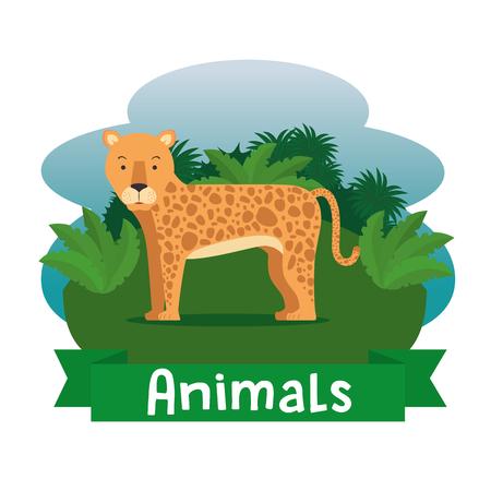 Karikaturillustration des wilden Tieres. Standard-Bild - 90227756