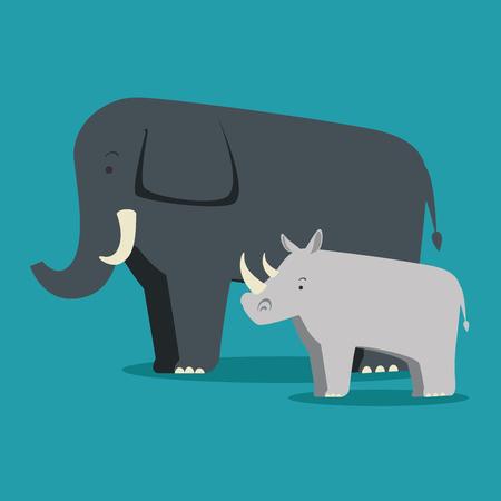 Wild animal cartoon illustration. Ilustracja