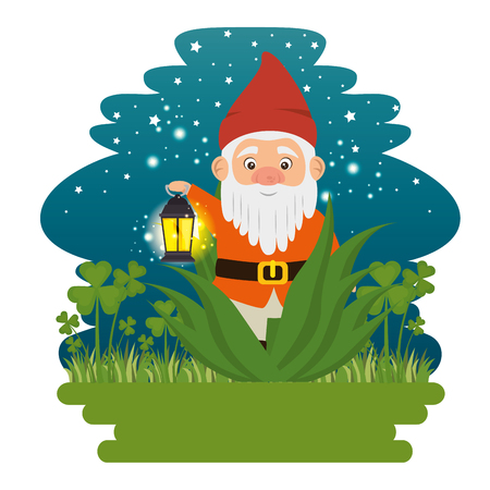 fantastic character cute dwarf vector illustration graphic design Ilustracja