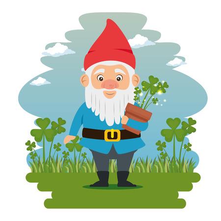 fantastic character cute dwarf vector illustration graphic design Ilustração