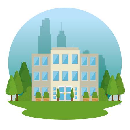 都市風景ベクトル イラスト グラフィック デザイン