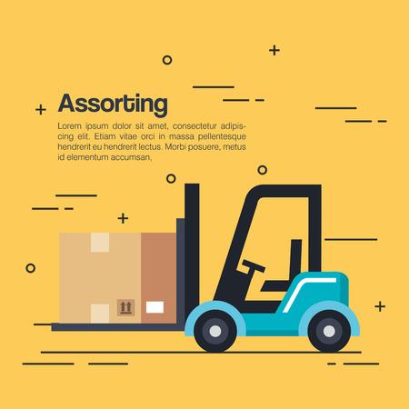 logistieke service zakelijke iconen vector illustratie ontwerp Stock Illustratie