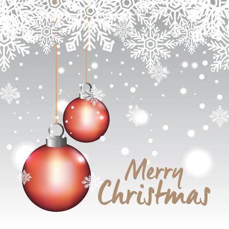 bright merry christmas card vector illustration design