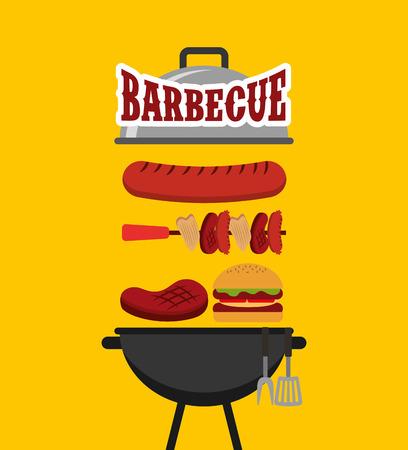 Barbecue Feier Konzept Symbole Vektor-Illustration Design Standard-Bild - 90251730
