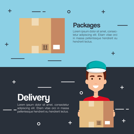 delivery service business icons vector illustration design