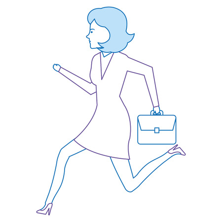 businesswoman running avatar character vector illustration design