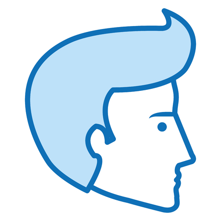head profile man avatar character vector illustration design Illustration