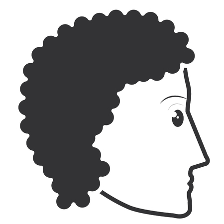 head profile man avatar character vector illustration design 向量圖像
