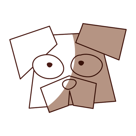 shadow brown funny dog face cartoon vector graphic design Illustration