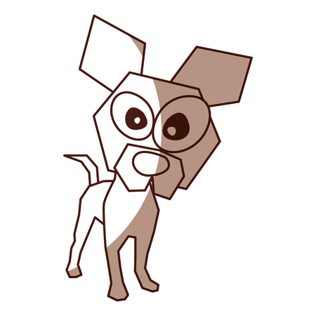 shadow brown funny doggy cartoon vector graphic design 向量圖像