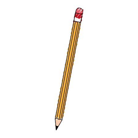 scribble pencil cartoon vector graphic design illustration