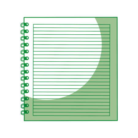 shadow green open notebook cartoon vector graphic design Illustration