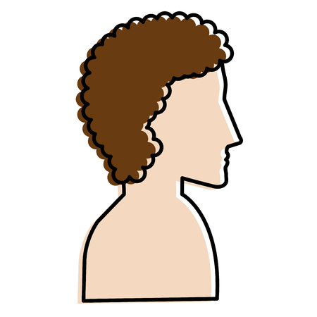 man profile shirtless avatar character vector illustration design Stock Vector - 90253999