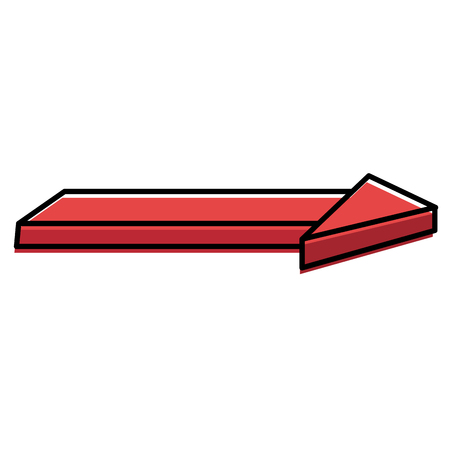 direction arrow isolated icon vector illustration design
