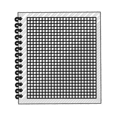 scribble open notebook cartoon vector graphic design