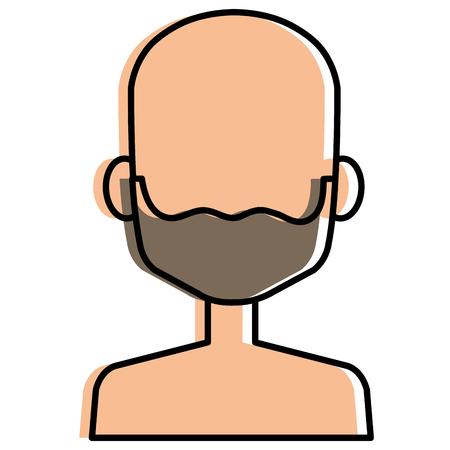 young man shirtless avatar character vector illustration design Stock Vector - 90254315