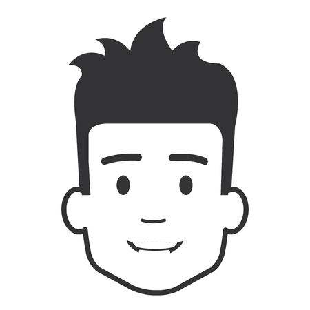 young man head avatar character vector illustration design Illustration