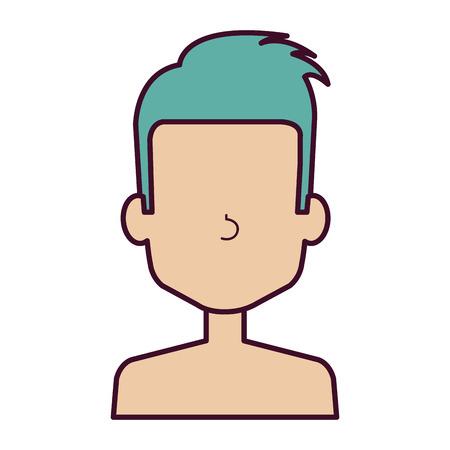 young man shirtless avatar character vector illustration design Stock Vector - 90259412