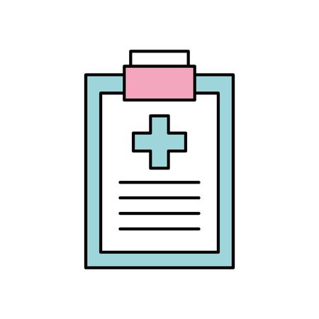 クリップボード チェックリスト レポート医療機器作業ベクトル図