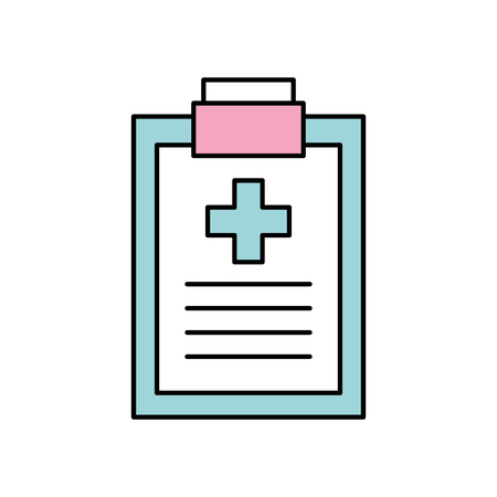 clipboard checklist report medical instrument work vector illustration