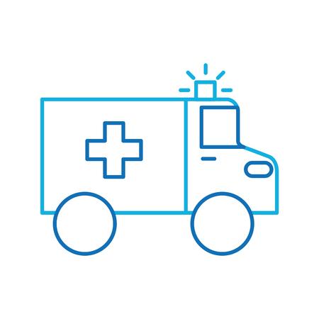 ambulance vehicle transport urgency help accident aid vector illustration