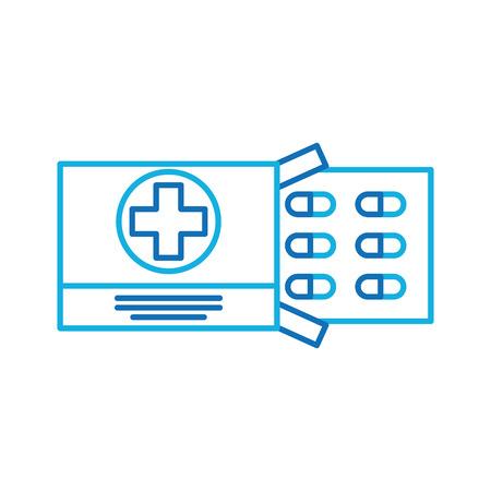 Drug problème médicale vaccin de médicament pour la chirurgie des comprimés antibiotique illustration vectorielle Banque d'images - 90277878