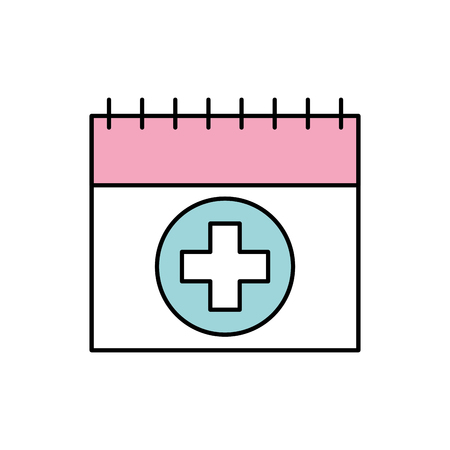 calendar for menstrual period with cross health vector illustration Иллюстрация