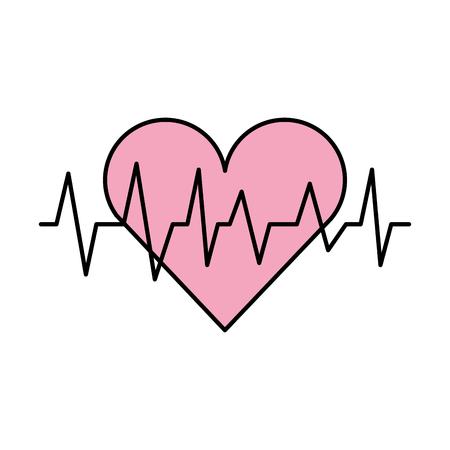 Coeur médical rythme cardiogramme diagnostic illustration vectorielle Banque d'images - 90277885