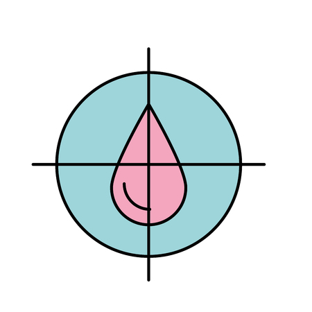 drop blood donation medicine care icon vector illustration