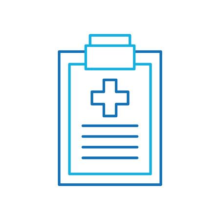 clipboard checklist report medical instrument work vector illustration