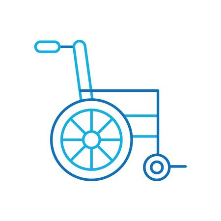 휠체어 의료 장비 전송 벡터 일러스트 레이 션을 사용하지 않도록 설정
