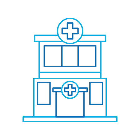 hospital building medical center front view icon vector illustration Фото со стока - 90278053