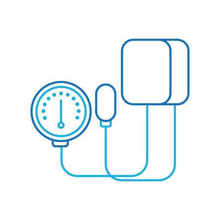 Tonometro medico per la misurazione della pressione sanguigna isolato su sfondo bianco illustrazione vettoriale Archivio Fotografico - 90278054
