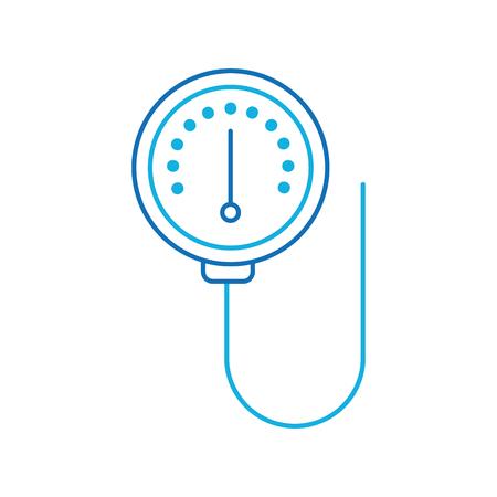escala de medidor de dispositivo manómetro de presión ilustración vectorial Ilustración de vector
