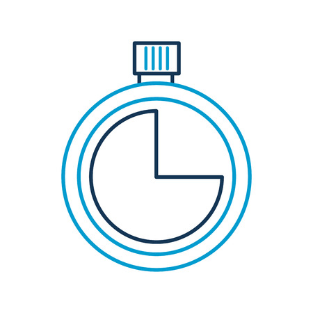 stopwatch timer second time concept vector illustration