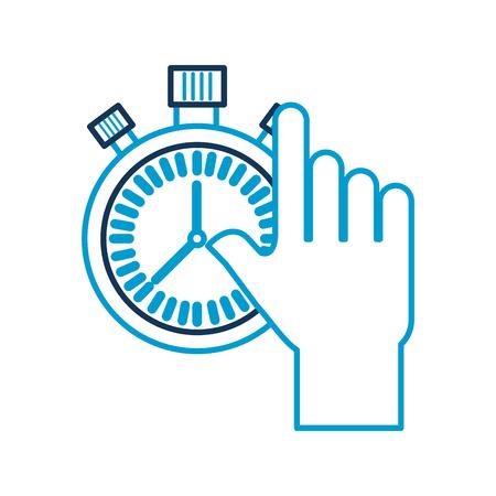 クロノメーター コントロール カウント ダウン画像ベクトル図を持っている手
