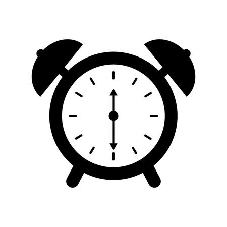 alarm clock time alert bell hour concept vector illustration