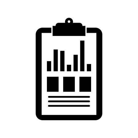 clipboard business graph checklist report vector illustration Zdjęcie Seryjne - 90278074