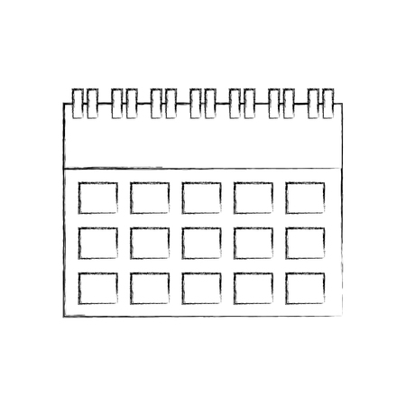 calendar business date appointment icon vector illustration Banco de Imagens - 90278085