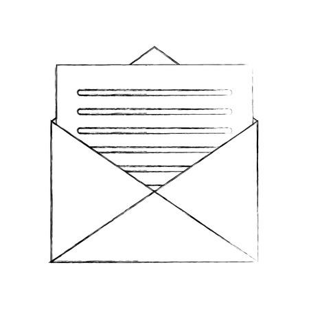 メール封筒手紙メッセージ通信ベクトル図  イラスト・ベクター素材