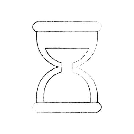 zakelijke tijd beheer zandloper en financiën klok vectorillustratie