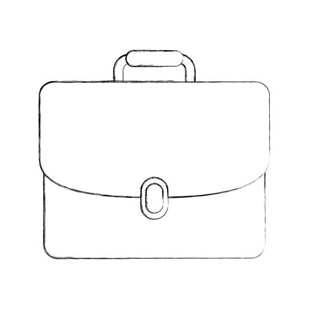 business briefcase document portfolio accessory vector illustration