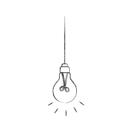 hanging light bulb efficient electric vector illustration
