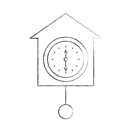wall clock icon object time concept vector illustration Иллюстрация