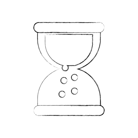 business sand clock time plan work vector illustration Ilustração