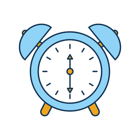 alarm clock time alert bell hour concept vector illustration