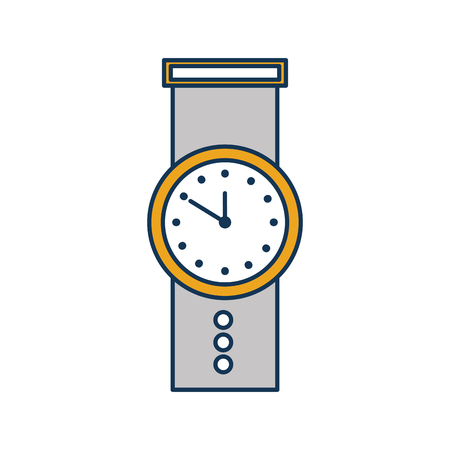 手の時計時間ビジネス タイマー計画概念ベクトル図