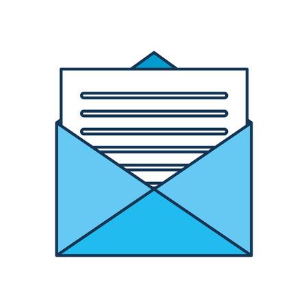 email envelope letter message communication vector illustration Ilustrace